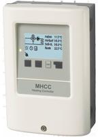 Regolatore di riscaldamento con compensazione delle condizioni atmosferiche per un circuito di riscaldamento controllato con richiesta di calore
