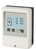 TC Controller with thermostat function for storage heating.
