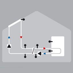 Solaire avec ballon et échangeur de chaleur pour les grands systèmes